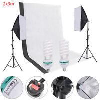 Photography Studio Backdrop Soft Umbrella Lighting Kit+Background Support Stand