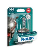 Philips H4 X-treme Vision MOTO 130% mehr Licht Power für Motorrad XP 12342XV+BW