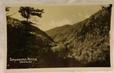 Vtg RPPC Smugglers Cove Vermont Mountain  View Real Photo Antique Unused