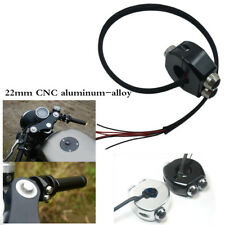 2pcs 22mm CNC aluminum-alloy Self Latching Switch Motorcycle Cafe Race Universal
