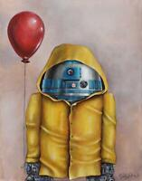 Star Wars R2D2 Parody Pop Art Movie Greats SINGLE Leinwand Kunst Bild drucken