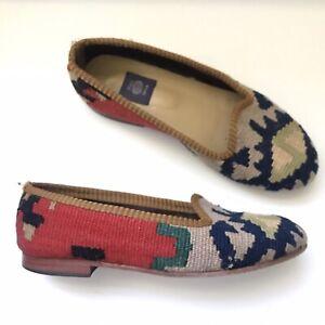 Women's Res Ipsa Wool Kilim Turkish Loafer Shoes $225 Slip On Size 8