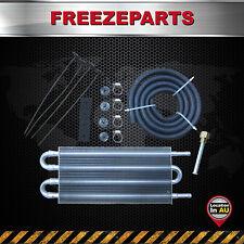 4 Row Aluminum Remote Transmission Oil Cooler Auto-Manual Radiator Converter Kit