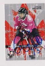 ITG O Canada Caroline Ouellette Team Canada Women's Hockey Autographed Card