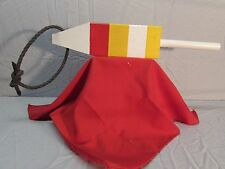 """New listing 4"""" x 4"""" Wooden Lobster Pot Buoy - Almost 20"""" Long w/Rope- Make an Offer"""