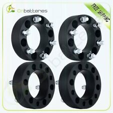"4X 2"" Black Wheel Spacers Adapter 6x5.5 For Chevy Silverado 1500 Tahoe Suburban"
