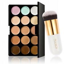 15 Colors Contour Makeup Palette Set Face Cream Powder Concealer Brush Kit