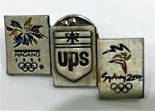 UPS LOGO NAGANO 1998 OLYMPICS SYDNEY 2000 OLYMPICS PIN COLLECT #1126