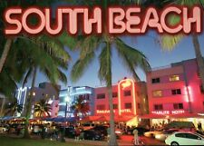 South Beach Florida, Starlite & Boulevard Hotel, Nightclubs etc., FL -- Postcard