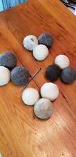 Set Of 3 Large natural Wool Felted Dryer Balls pet Toy