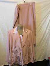 VINTAGE JUSTIN TAYLOR WOMENS SIZE 26 SKIRT SUIT LINED AND GORGEOUS