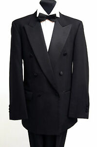MENS FORMAL DOUBLE BREASTED DINNER JACKET AND TROUSERS -  EVENING WEAR DJ-7
