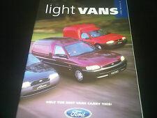Ford Light Vans Brochure 1998 Edition 2 Fiesta Escort