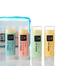 New Rosemira 100% Organic Lip Balm Collection, Lemon, Grapefruit, Mint, Tropical