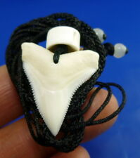 great white bull shark tooth pendant silver adjustable SHIPPING Randomly