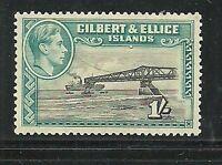 Album Treasures  Gilbert & Ellice Scott # 48  1sh George VI Loading Phosphate MH