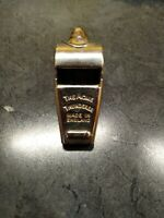 VINTAGE THE ACME THUNDERER POLICE WHISTLE WITH CORK BALL MADE IN ENGLAND