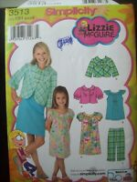 Simplicity Pattern 3513 Lizzie McGuire Dress Sizes 3-6 Uncut/FF New Old Stock