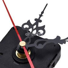 New Quartz Clock Movement Mechanism Long Spindle Red Hands Repair DIY Kit Set a^