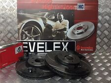 FRONT BREMBO  DRILLED + GROOVED BRAKE DISCS + PADS KIT FORD FOCUS ST225