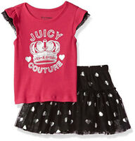 Juicy Couture Toddler Girls 2Pc Pink Top & Skooter Set Size 2T 3T 4T $65