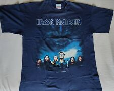 IRON MAIDEN official Brave New World Tour 2000 tee shirt blue vintage collector