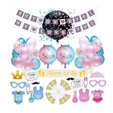 Gender Reveal Party DIY Kit Boy or Girl Hanging Decorations Baby Shower Ballons