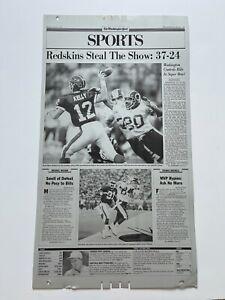 WASHINGTON REDSKINS SUPER BOWL XXVI Washington Post printing plate