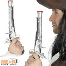 Pirate Silver Pistol Fancy Dress Costume Party Toy Gun Accessory New