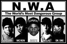 "05 NWA- Ice Cube Dr Dre Gangsta Rap Art 36""x24"" Poster"