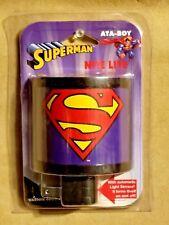 DC COMICS: SUPERMAN NITE LITE by ATA-BOY WITH AUTOMATIC LIGHT SENSOR! BRAND NEW