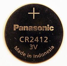 2PC Panasonic CR2412 2412 Lithium Coin 3V 100mAh, Bulk - Ships from Canada