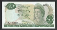 NEW ZEALAND P-167d. (1977-81) $20 STAR Note.. Hardie - Type 1. YJ Prefix. aU-UNC