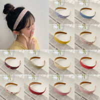 Fabric Hairband Wide Hair Bands Hoop Headband Women's Headpiece Accessories
