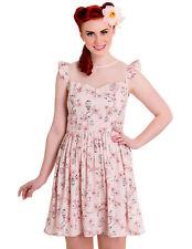 NWT - HELL BUNNY Women's 'TWEETY' 50'S RETRO Birdcage ROCKABILLY DRESS Size: S