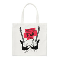 Long Live Rock N Roll Electric Guitar Small Tote Bag - Funny Shoulder