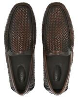 NEW SALVATORE FERRAGAMO CANDIDO BROWN LEATHER LOAFERS MOCCASINS SHOES 10 EEE EEE
