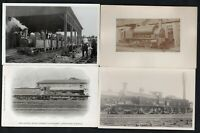 7 Cards + 1 Photo Featuring Old Steam Locomotives See 4 Scans For Full Detail