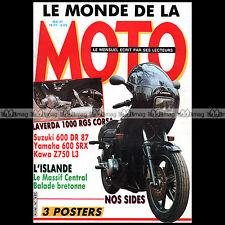LE MONDE DE LA MOTO N°147-b BMW R50 SUZUKI DR 600 YAMAHA SRX KAWASAKI Z 750 1987