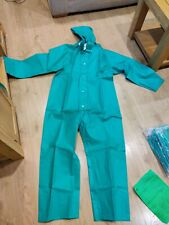 Alpha Solway Chemmaster Green Coverall Boiler Suit with Hood Medium type 3