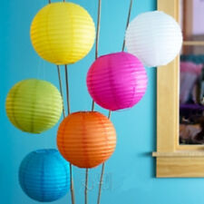 "Chinese Paper Lantern Lamp Shade Decor 10""(Blue+Orange+White+Lime+Yellow+H Pink)"
