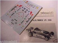 ALFA ROMEO 179 F1 1980 DECAL 1/43 FDS AUTOMODELLI