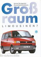 VW Großraumlimousinen Caravelle Multivan Allstar Prospekt 1993 5/93 brochure PKW