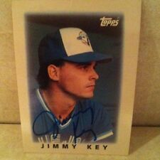 1986 Topps Mini Jimmy Key Auto Signed Card