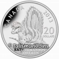 Canada 2013 Prehistoric Animals 1 Dinosaur Bathygnathus Borealis $20 1 Oz Silver