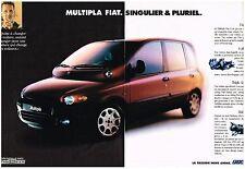 PUBLICITE   1997    FIAT    MULTIPLA  (2 PAGES)