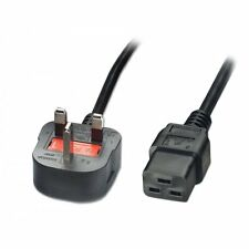 Power Cable UK Mains Male Fused Plug to IEC C19 Female Socket 13A amp 2.5m HQ