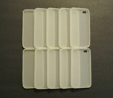 Lot of 10 TPU Soft Gel Skins Cases For Apple iPhone 4 WHITE