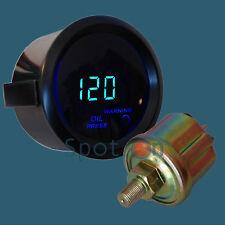 """2""""  Digital LED Electronic Oil Press Pressure Gauge - Black"""