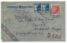 1947 Uruguay - Air mail business cover (General Electric Uruguay), to Hungary